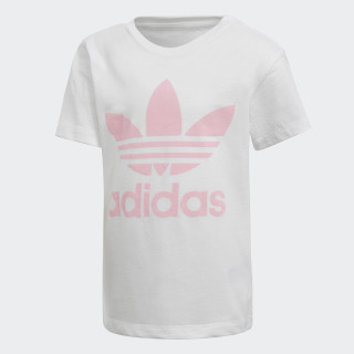 Trefoil Tee White / Light Pink DH2464