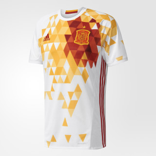 Maillot Espagne UEFA EURO 2016 Extérieur White/Power Red AA0830