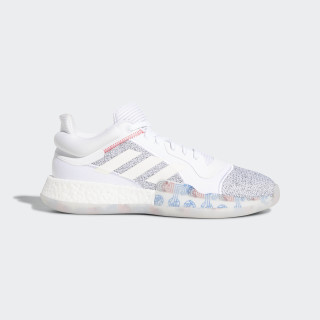 Zapatilla Marquee Boost Low Ftwr White / Off White / Shock Cyan G27745
