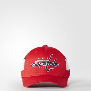 Capitals Structured Flex Draft Hat Red BZ8720