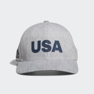 Heathered USA Hat Grey Heather DN4252
