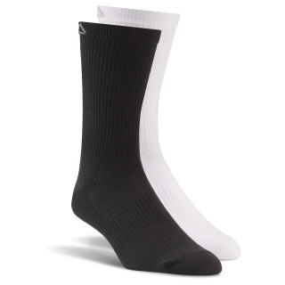 LES MILLS Crew Sock - 2pack White / Black BP5269