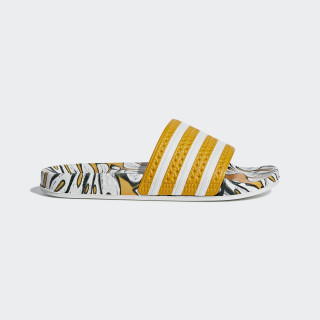 Adilette Slippers Yellow / Off White / Craft Gold D96682