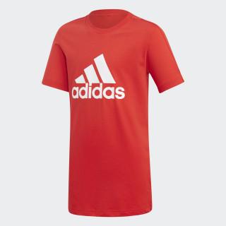 Camiseta Essentials Logo Vivid Red / White DJ1776