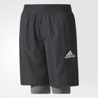 Two-in-One Football Shorts Black/Grey Five CE9219