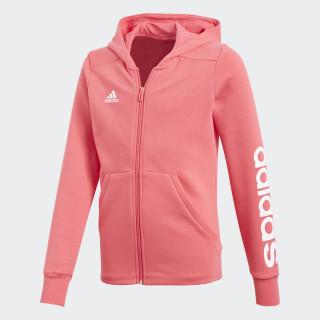 Essentials 3-Stripes Mid Hoodie Real Pink/White CF7289