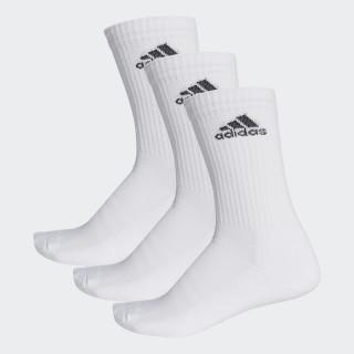 3-Stripes Performance Crew Socks White/Black AA2297