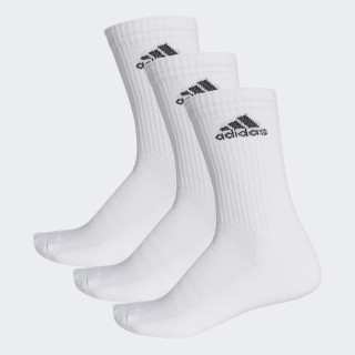 3-Stripes Performance Crew Socks White/Black AA2297