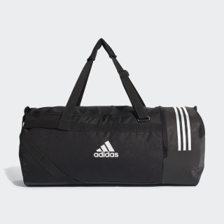 Convertible 3-Stripes Duffel Bag Large Black/White/White CG1534