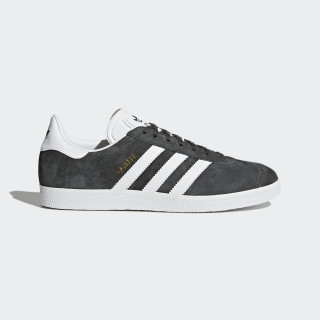 Gazelle Shoes Dark Grey Heather/White/Gold Metallic BB5480