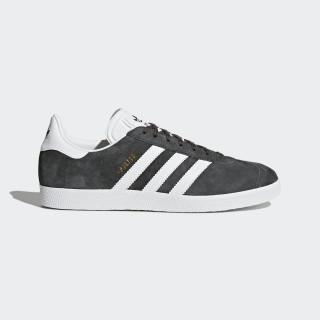 Gazelle Shoes Dark Grey Heather/White/Gold Metallic BB5480