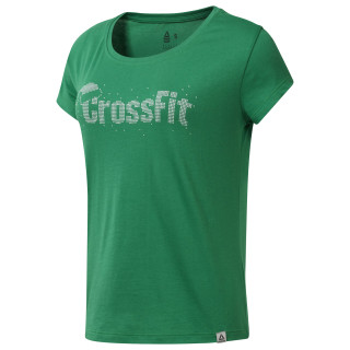 Reebok CrossFit Holiday Graphic Tee Basil Green DY0239