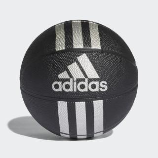 3-Stripes Mini-Basketbal Black / Silver Met. X53045