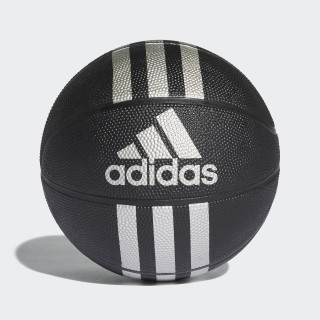 3-Stripes Mini Basketball Black / Silver Met. X53045