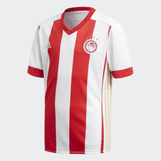 Camisola Principal do Olympiacos FC White/Scarlet/Light Football Gold BK2866