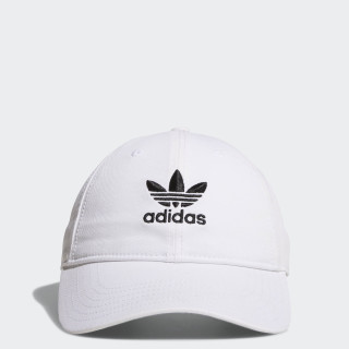 Relaxed Strap-Back Cap White / Black BH7135