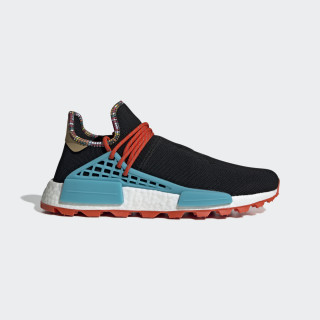 Pharrell Williams SOLARHU NMD Schoenen Core Black / Clear Blue / Collegiate Orange EE7582