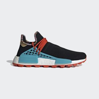 Pharrell Williams SOLARHU NMD Shoes Core Black / Clear Blue / Collegiate Orange EE7582