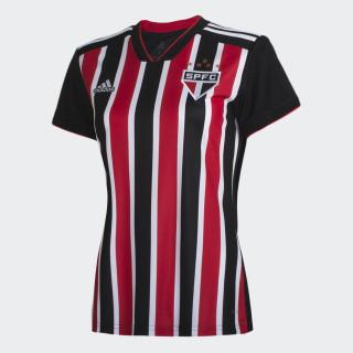 CAMISA SAO PAULO II FEMININA RED/WHITE/BLACK DZ5622