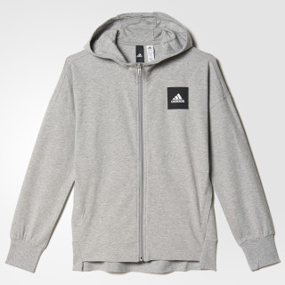 Hoodie Sports ID Medium Grey Heather/Mystery Blue BP8643