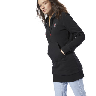Classics Fleece Hoodied Dress Black DH1372