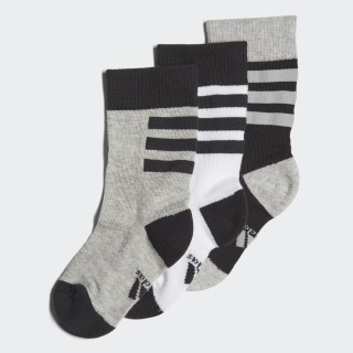 Plain Crew Socks 3 Pairs black / white / medium grey heather DJ2303