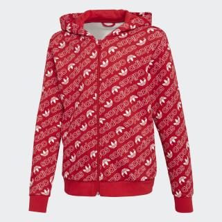 Trefoil Monogram hoodie Collegiate Red / White DH2697