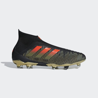 Chaussure Paul Pogba Predator 18+ Terrain souple Core Black / Solar Red / Olive Cargo CG7050