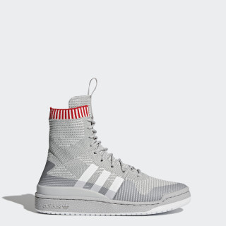 Forum Primeknit Winter Shoes Grey Two/Footwear White/Scarlet BZ0646