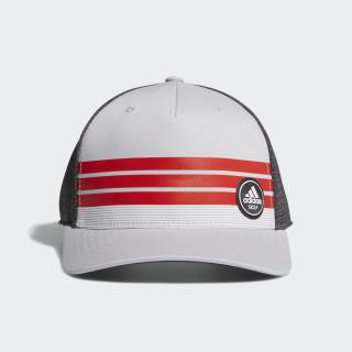 3-Stripe Trucker Hat Grey / Hi-Res Red CE5244