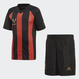 Conjunto Messi BLACK/SOLAR RED/GOLD MET. BLACK/GOLD MET. CF6691