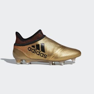 X 17+ Purespeed Firm Ground Cleats Tactile Gold Metallic / Core Black / Solar Red CP8967