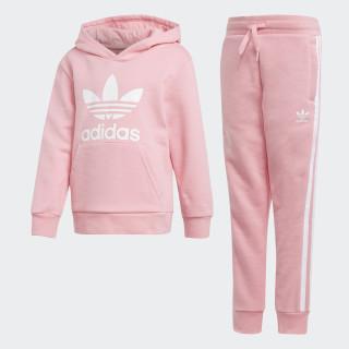 Trefoil Hoodie Set Light Pink / White D98859