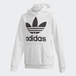 Sweat-shirt à capuche Trefoil White / Black DH2667