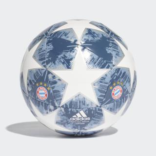 Balón Finale 18 FC Bayern Capitano WHITE/SILVER MET./RAW STEEL S18/UTILITY BLUE CW4147