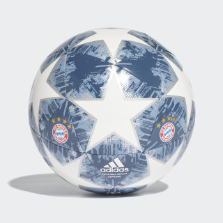 Pelota Finale 18 FC Bayern Capitano WHITE/SILVER MET./RAW STEEL S18/UTILITY BLUE CW4147