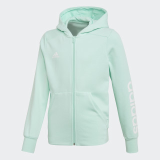 Essentials 3-Streifen Mid Kapuzenjacke Clear Mint / White DJ1314