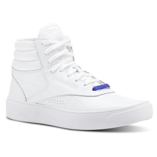 Freestyle Hi Nova - Grade School Mid-White / Ultra Purple CN5630