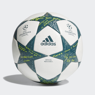 UCL Finale 16 Official game Ball White / Vapour Steel / Green AP0374