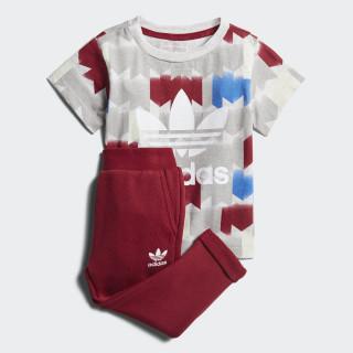 Conjunto Camiseta y Pantalón GRPHC MULTICOLOR/COLLEGIATE BURGUNDY CE4367