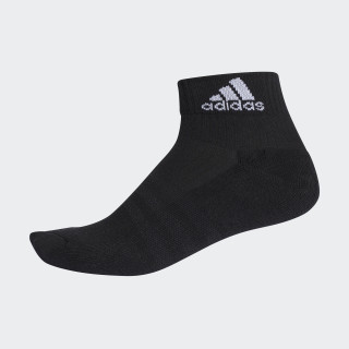 3-Stripes Performance Ankle Socks 1 Pair Black/Black/White AA2292