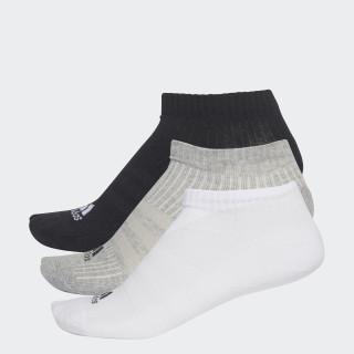 3-Stripes No-Show Sokken 3 Paar Black/Matte Silver AA2281
