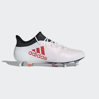 X 17.1 Soft Ground Boots Ftwr White/Real Coral/Core Black CP9171