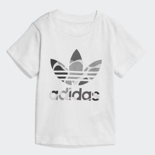 Camo Trefoil T-Shirt White / Multicolor D96092