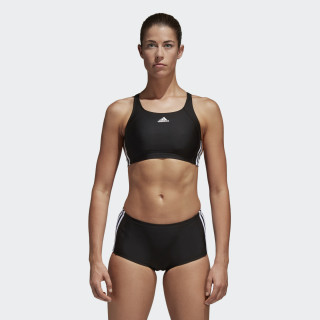 adidas essence core 3 stripes swim bikini Black/White BP5480