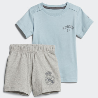 Conjunto Mini Me Real Madrid ASH GREY S18/GREY FIVE F17 MEDIUM GREY HEATHER/GREY FIVE F17/ASH GREY S18 CF7430