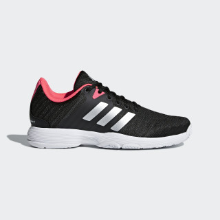 Barricade Court Schuh Core Black / Matte Silver / Flash Red AH2104