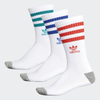 Roller Crew Socks 3 Pairs White CJ3877