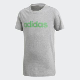 Camiseta Linear Essentials Medium Grey Heather / Energy Green DJ1765