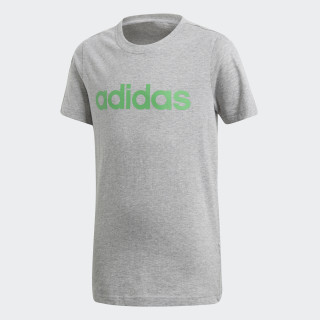 Essentials Linear T-Shirt Medium Grey Heather / Energy Green DJ1765